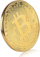 Amazon.com: Bitcoin Commemorative Coin 24K Gold Plated BTC Limited ...