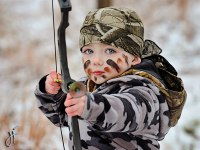 Chase ready to go in his winter camo! - jasonfarmerphoto.com