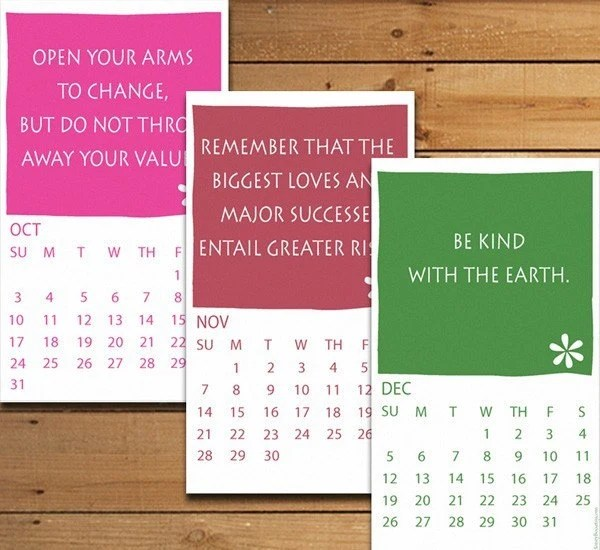 Instructions for Life - Printable 2010 Calendar