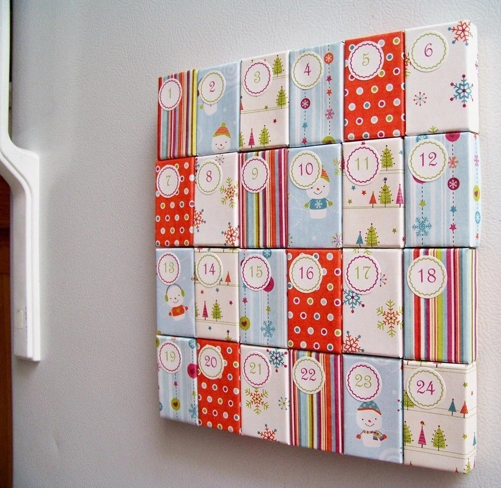 Funky U-Fill Magnetic Christmas Advent Calendar