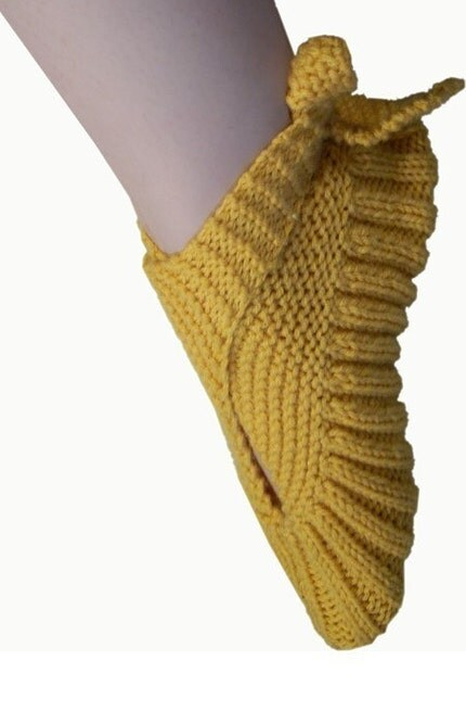 Sling-Heel Knit Slippers