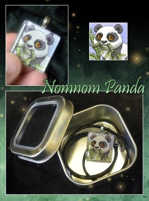 Nomnom Panda Pendant