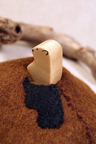 felted groundhog