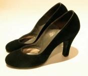 Vintage 1940s Sexy Suede De Liso Debs shoes - 7.5