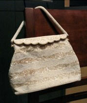 Vintage 1950s Amazing White Beaded Handbag