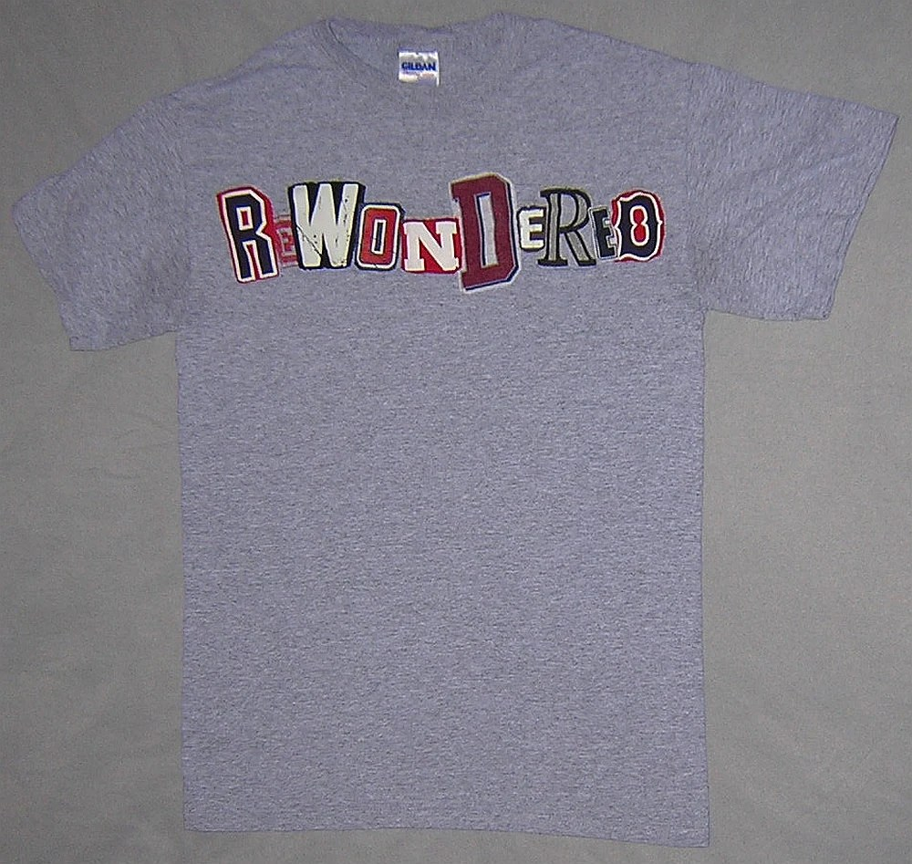 Custom Made To Order Wondiosyncra-Tees T-shirt - Your Choice of Word, Color, and Size - $20 - Example: Rewondered