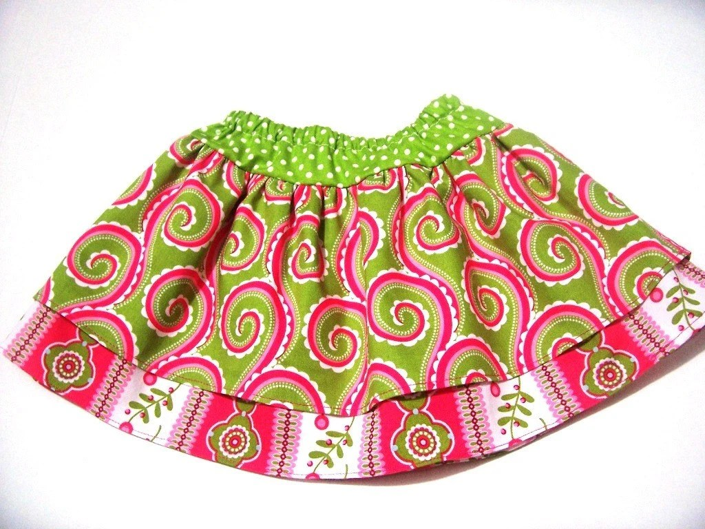 Let's Twirl Little Girls Curly Swirl Swing Skirt in Sizes 6 Months to Size 6