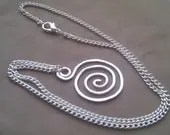 Spiral Pendant on a Silver Plated Chain