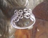 Fine Wire wrapped silver plated ring