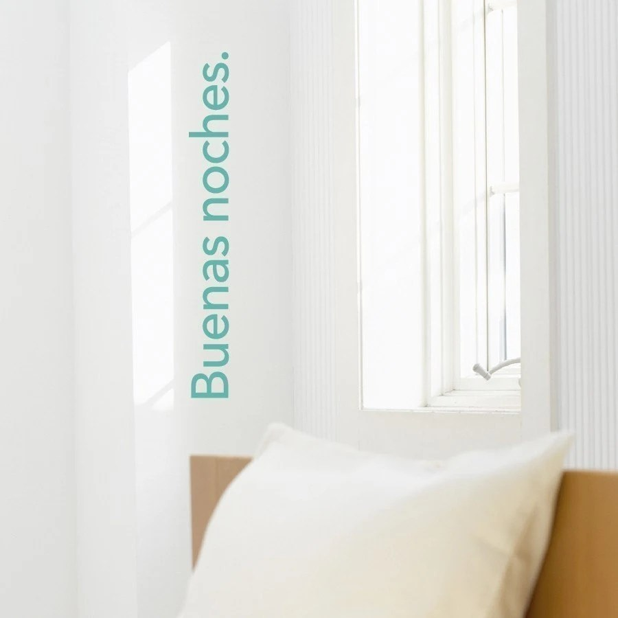 Buenas Noches - Spanish vinyl wall graphic decal