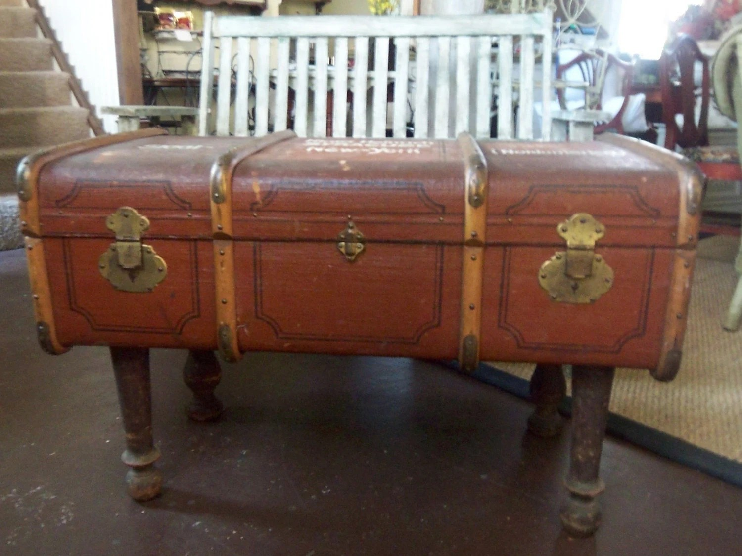 Vintage Suitcase Trunk Coffee Table