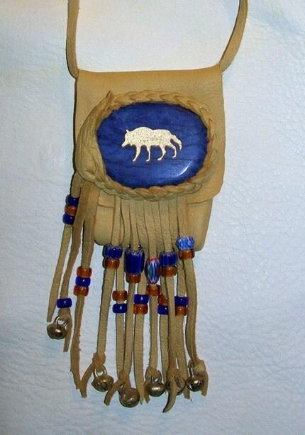 Wolf Spirit Medicine Bag Pouch