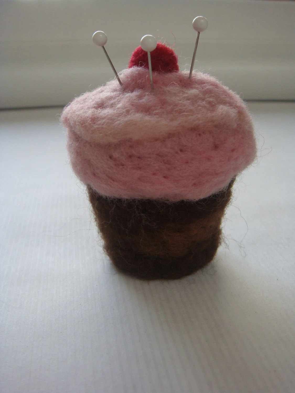 Strawberry Cupcake Pin Cushion