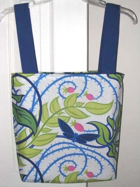 SALE - Re-Useable Grocery Tote or Farmers Market Bag in Prairie Gothic By Jane Sassaman