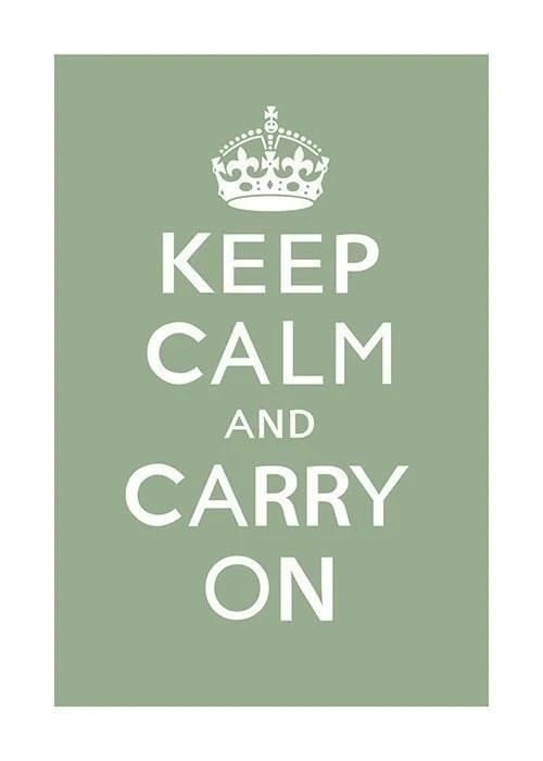 Keep Calm and Carry On (asparagus) - 13 x 19 Archival Print