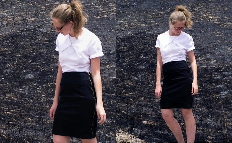 black Skirt with a zip detail