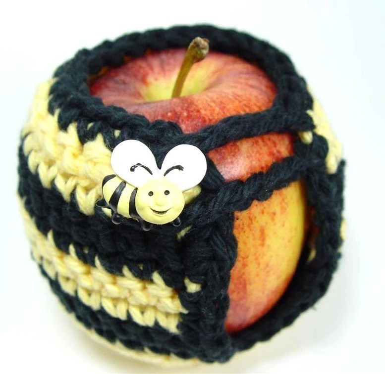 Busy Bumblebee Hand-Crocheted Adorable Apple Cozy