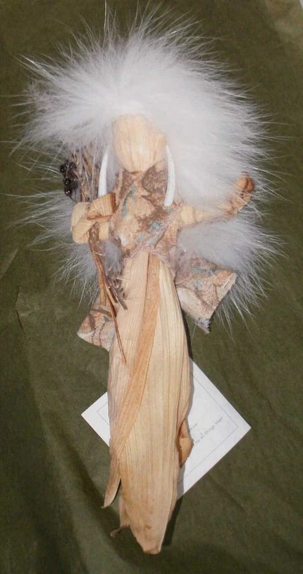 Corn Husk Doll Native Made in Minnesota