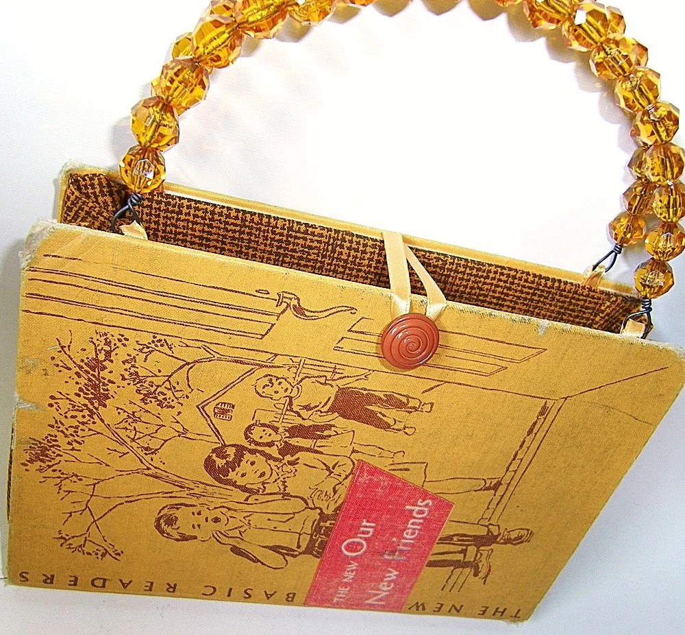 Vintage Dick and Jane Book Handbag Purse