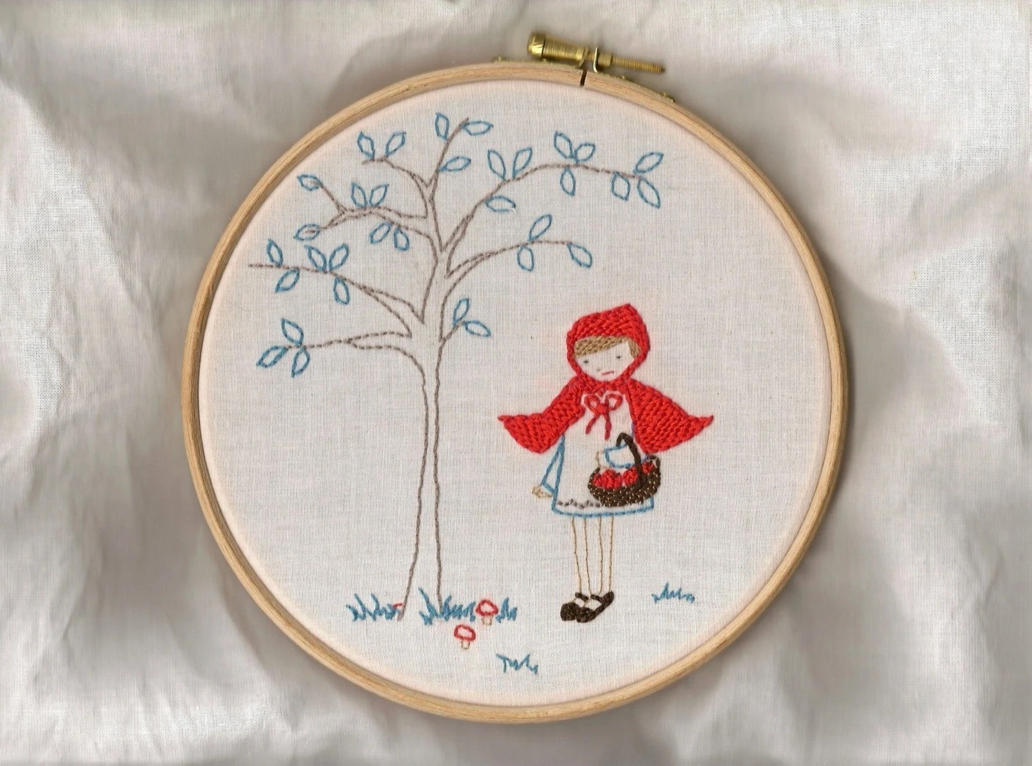 Little red riding hood - embroidery PATTERN