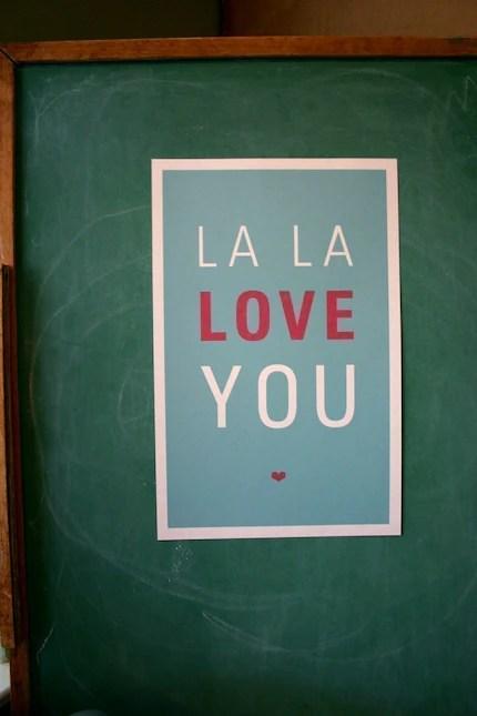 La La Love You Poster, Aqua