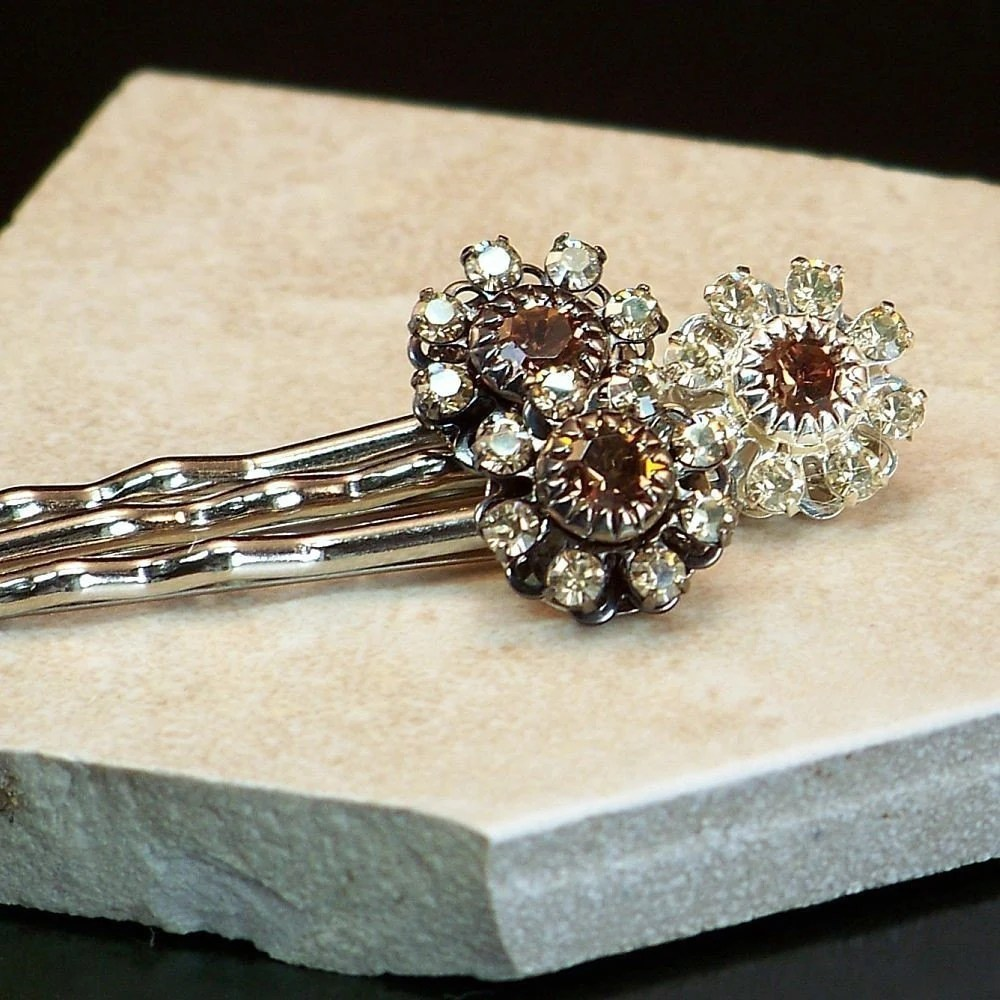 Swarovski Crytal Hairpins :: happymaxdesigns