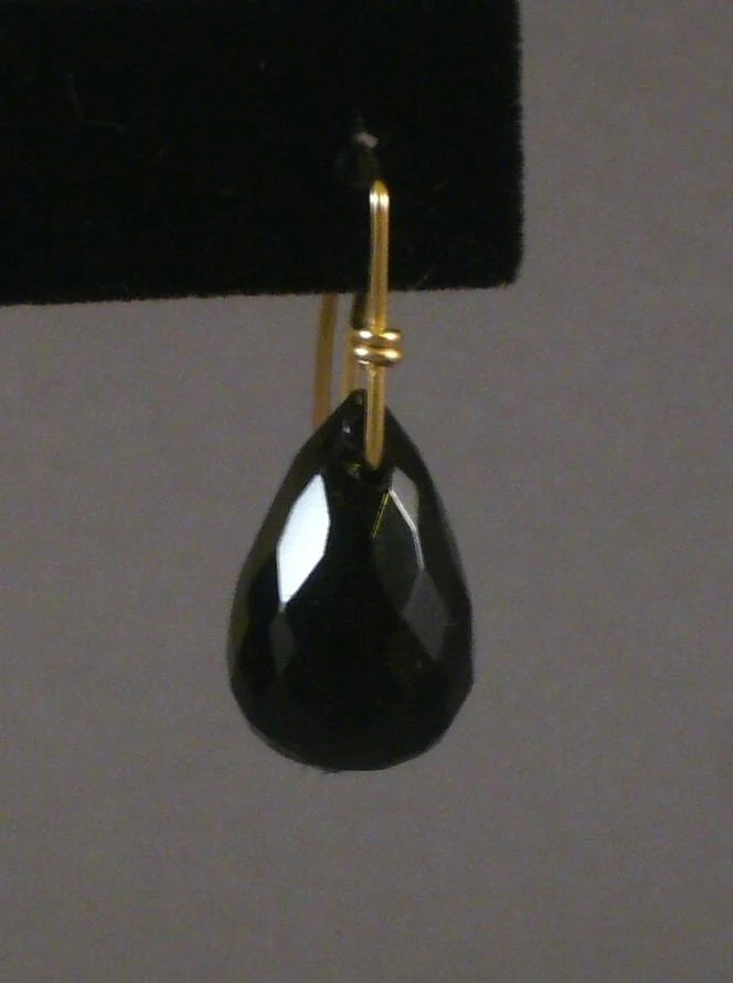 Drama Drop onyx earrings