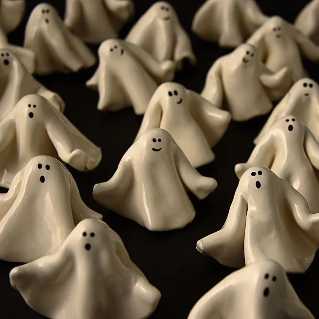 Halloween Ghost Miniatures Set of Three
