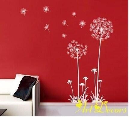 Dandelions- Personlized Interior Wall Vinyl Decal, Graphic, Sticker, Art