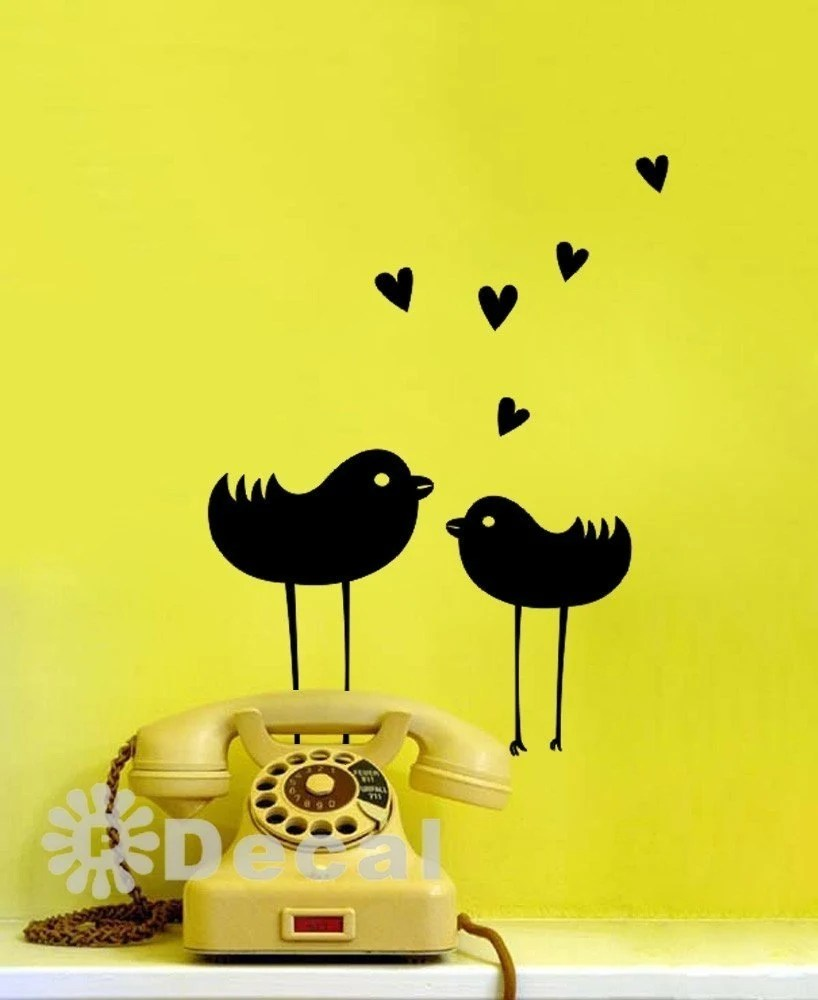 Love Birds Wall Art Decal Vinyl Sticker Home Decor Wallpaper