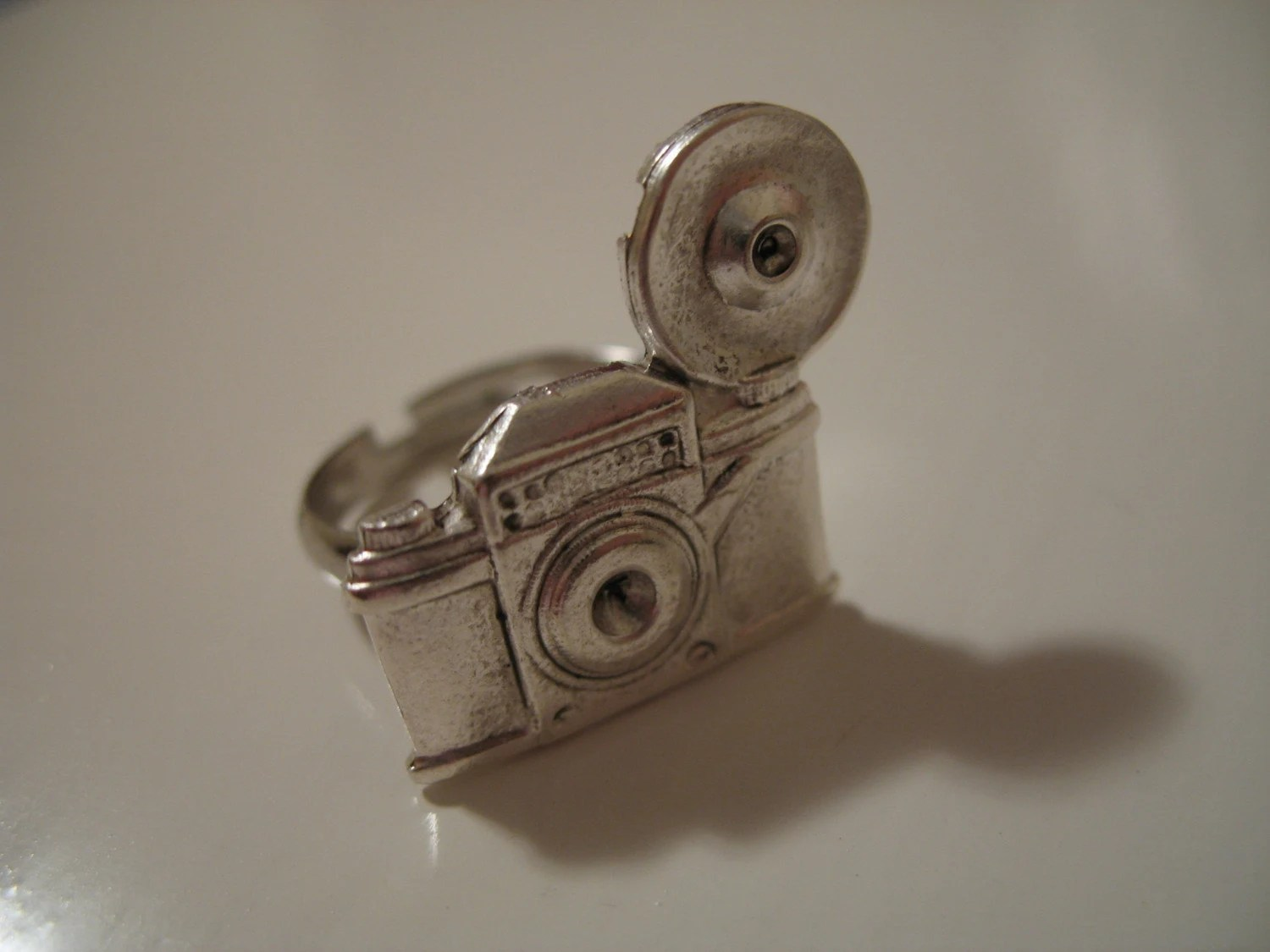 Photographers Silver Camera Ring