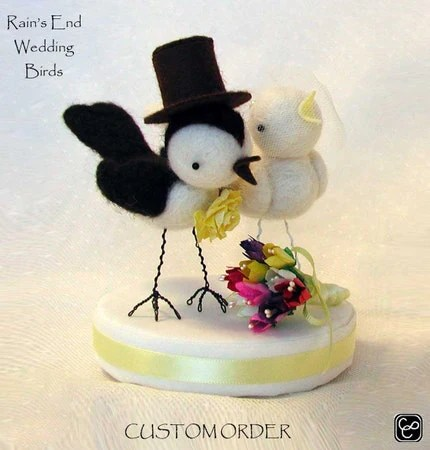 Wedding bird cake topper  - Deposit on Custom Order for  Reserved for MTRAHAN