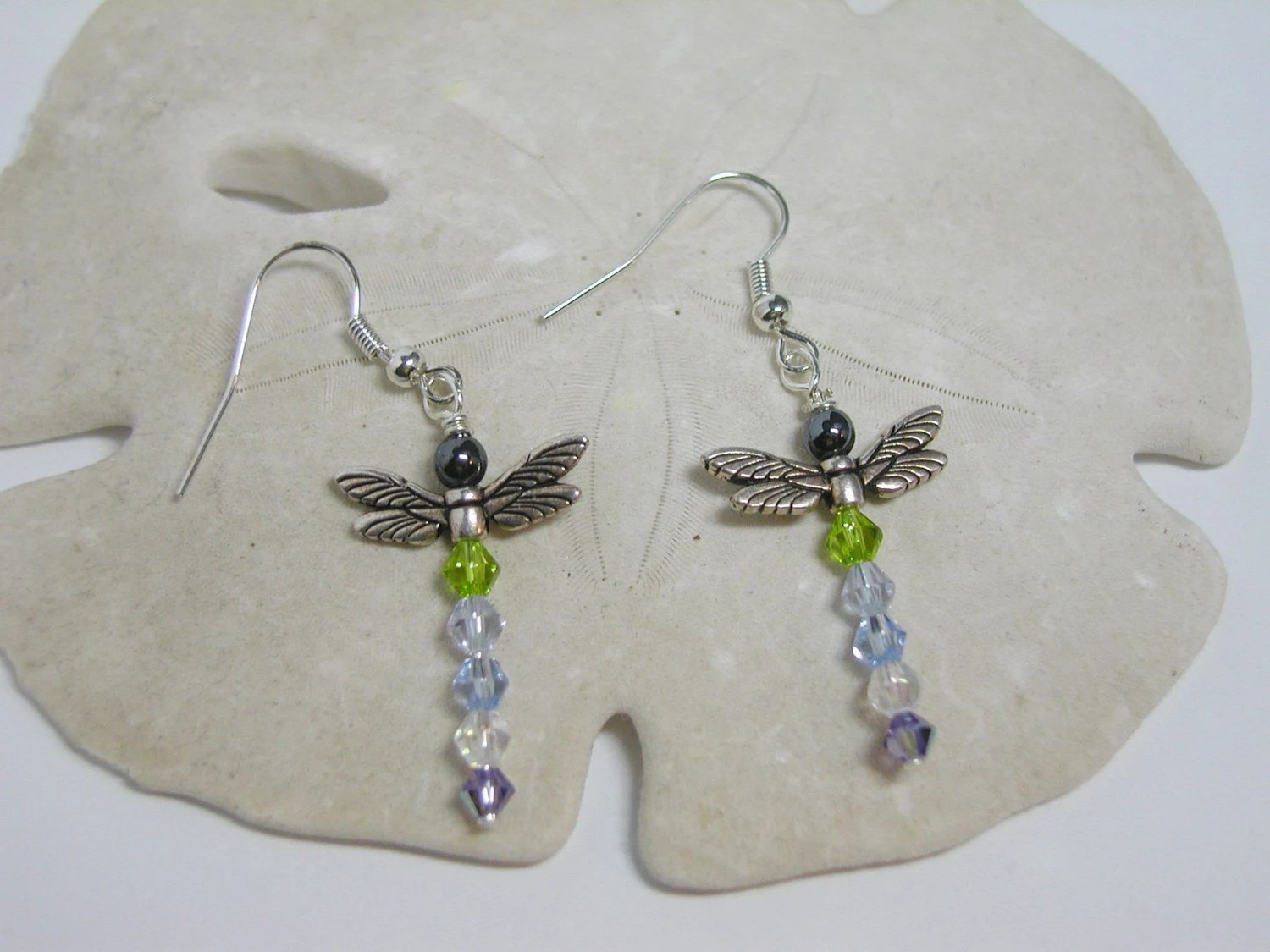 Dragonfly Crystal Earrings