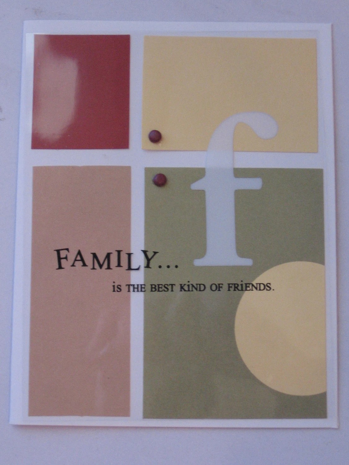 F is for Family card