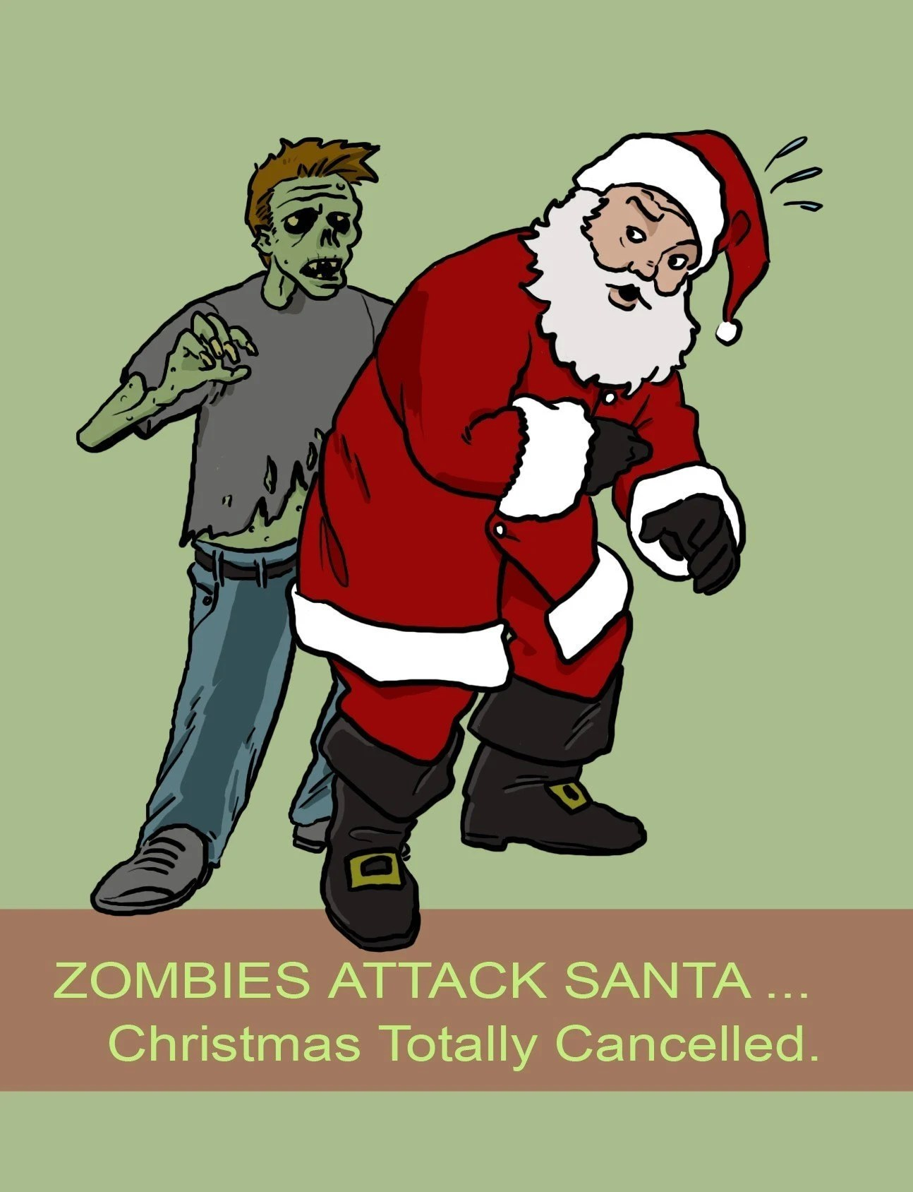Zombie christmas Cards, 20 pack, $22