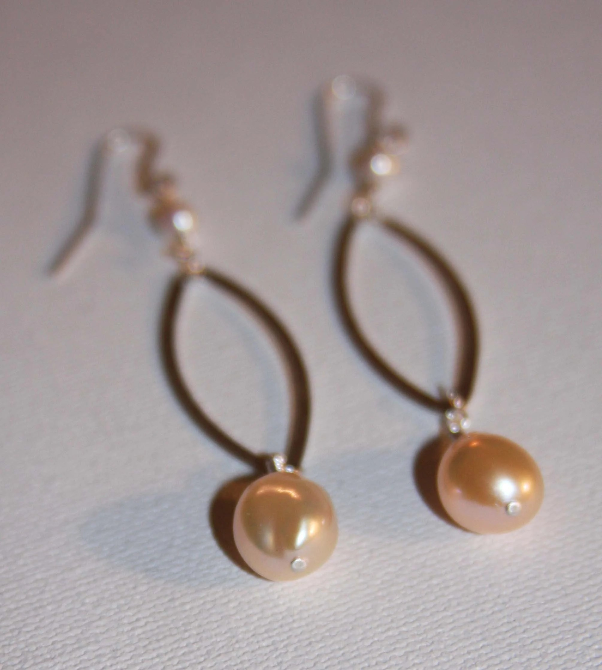 Oval Pearl Drop Earrings - A New Addition to My Etsy Shop