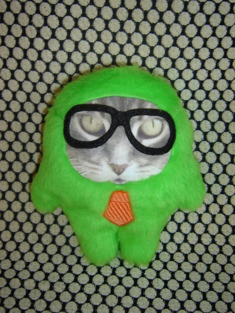 NERDY CAT MEMONSTER - Photograghic Plush