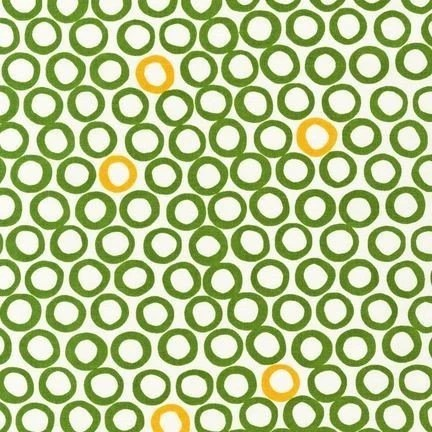 NEW from Jennifer Moore of Monaluna, Mingle, Circles, Leaf, 1 Yard