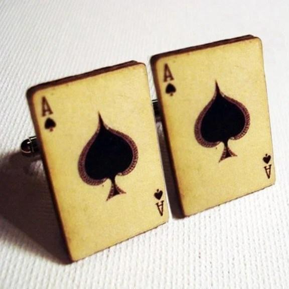 Ace of spades vintage cufflinks