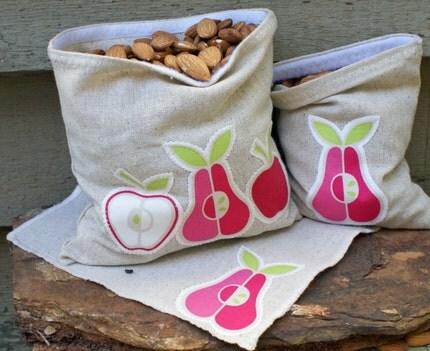 Le Petit Travel Set- Mini Eco snack bag and Petit Sandwich bag with Napkin