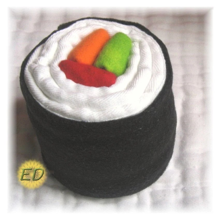Cloth Diaper Sushi Roll from EnchantedDandelions