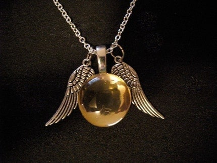 Hermione's Snitch Necklace