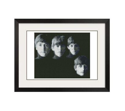 THE BEATLES CROSS STITCH PATTERN - PDF FORMAT
