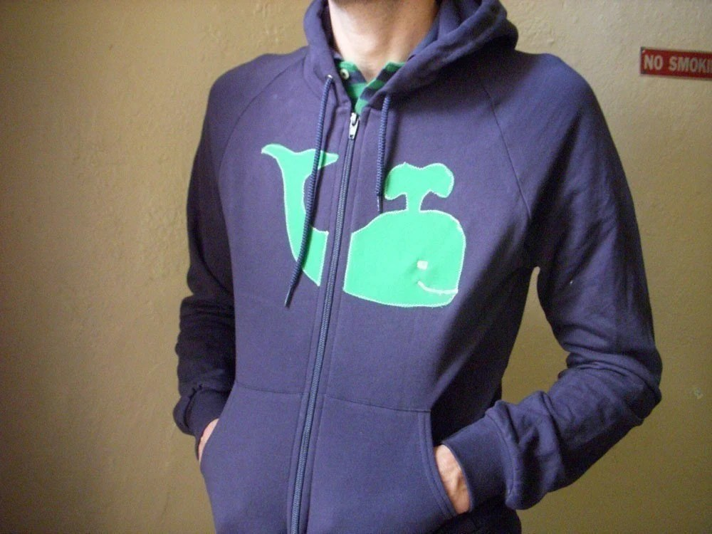 Whale Hoody- Unisex- Mens- Womens