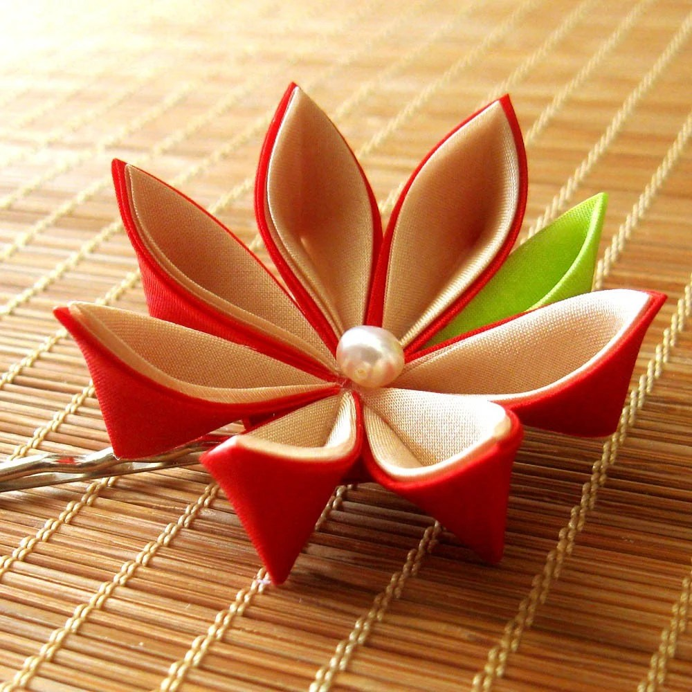2. Late Bloomer Kanzashi Hair Pin