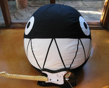 Mega Chain Chomp bean bag - Mario Bros - THIS ITEM IS MADE TO ORDER - ALLOW 4 WEEKS FOR COMPLETION