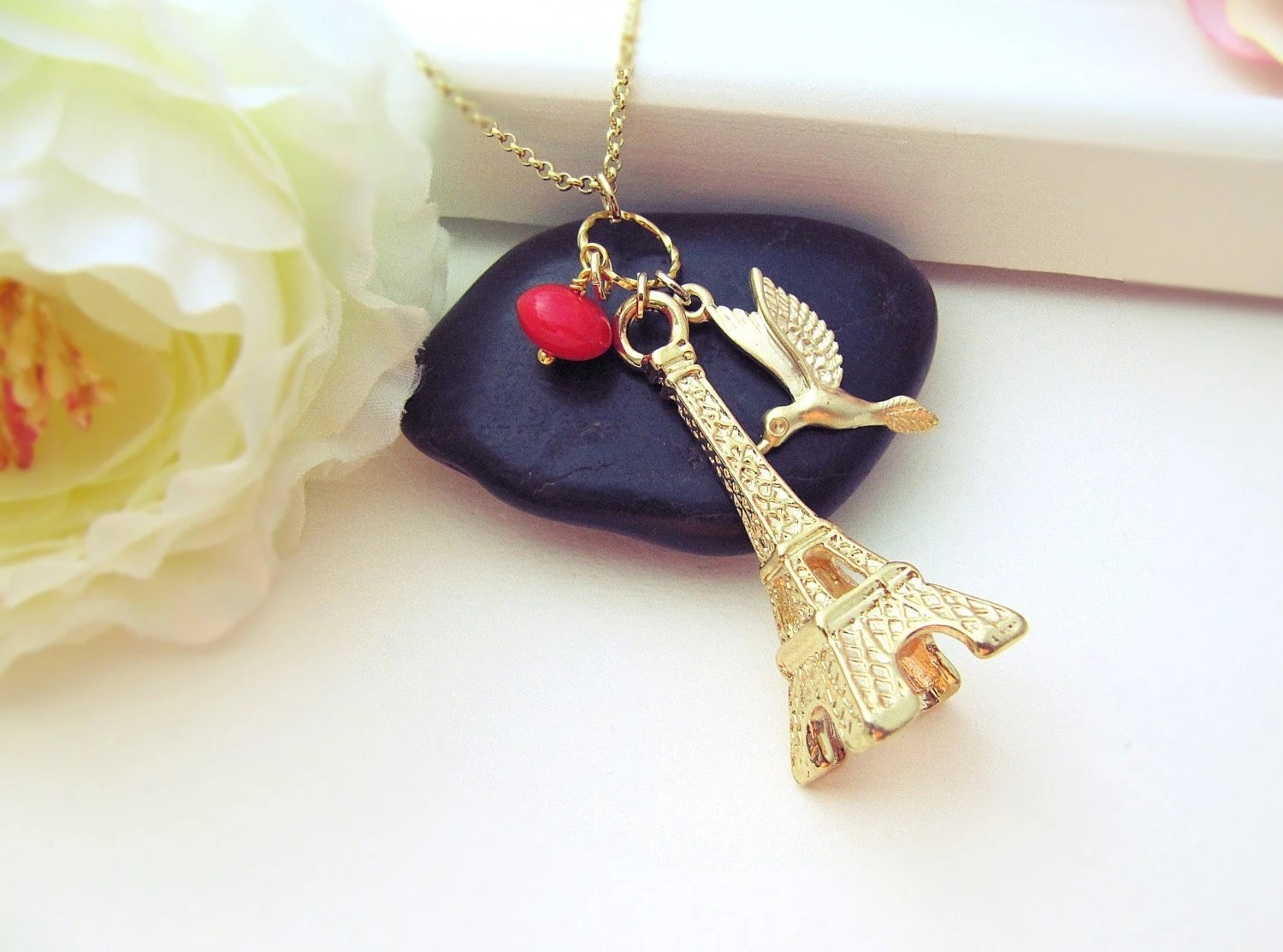 Flying to Paris Eiffel Tower Charm
