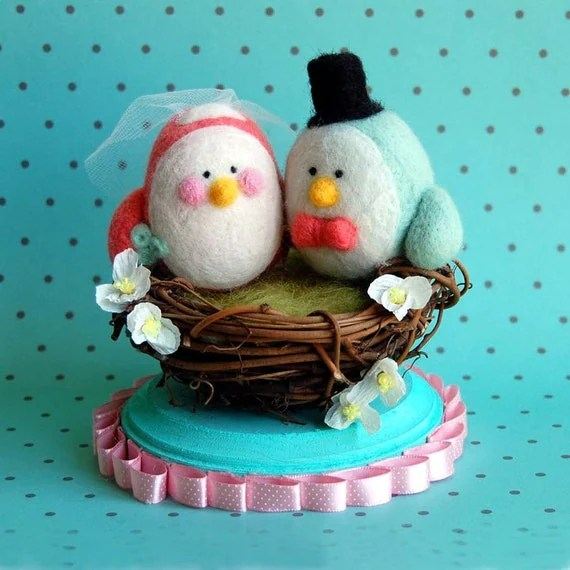 Tweet Hearts Cake Topper