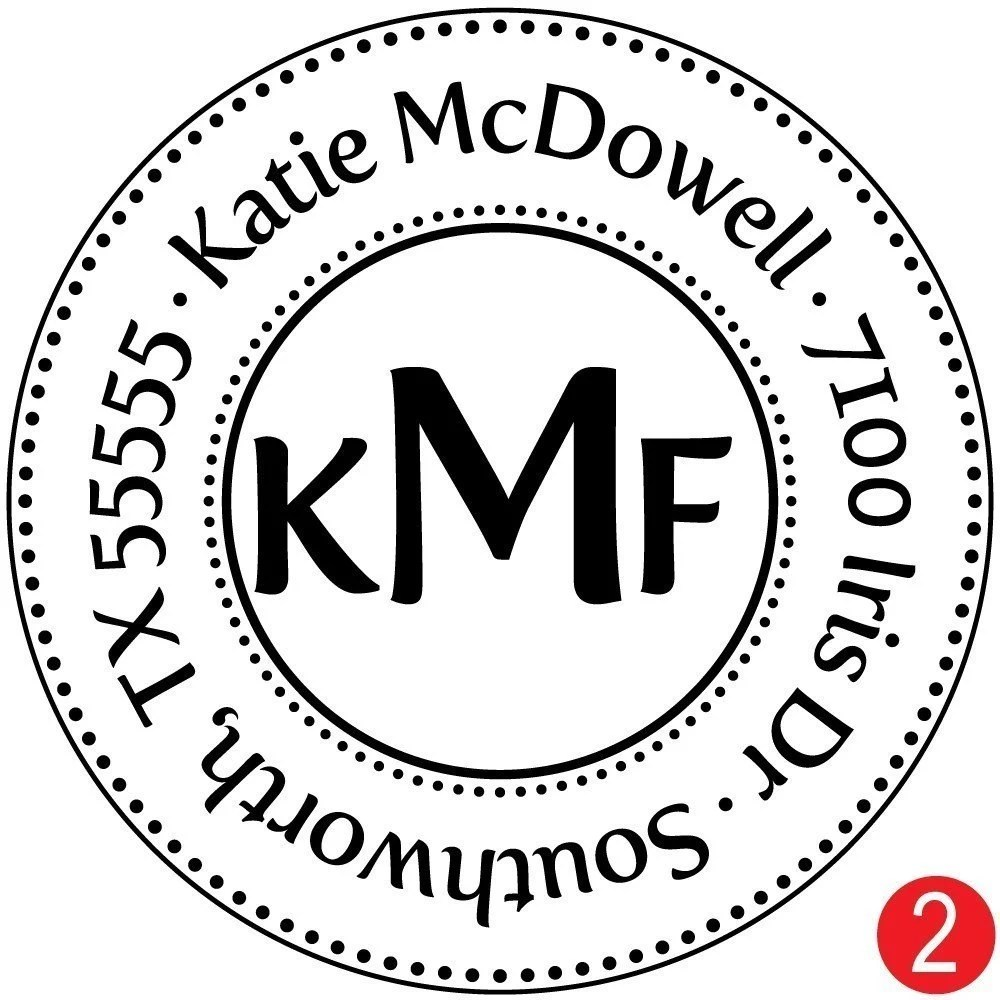Medium Triple Monogram Address Stamp