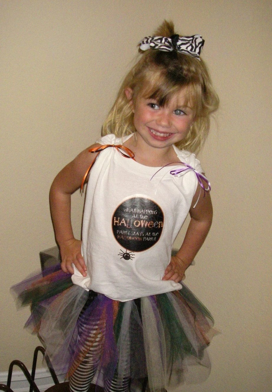 HALLOWEEN tee and funky TUTU size 6 months to 6T